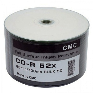 диск cd-r cmc 700mb 52x full ink/ print 50шт